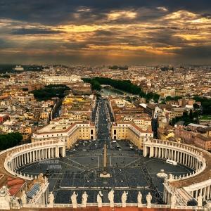 Площадь Святого Петра, Рим / Архитектурная фотосъемка
