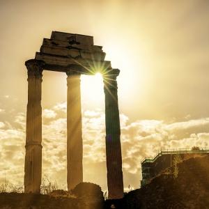 Римский форум, руины храма Диоскуров / Архитектурная фотосъемка