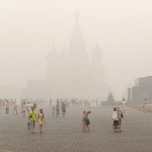 Смог на Красной площади / Архитектурная фотосъемка