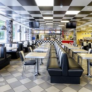 Кафе S-burger / Интерьерная фотосъемка