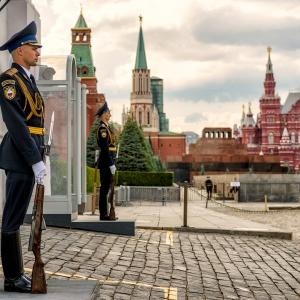 Почетный караул у Спасской башни / Репортажная фотосъемка
