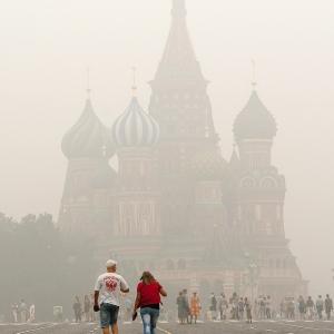 Смог на Красной площади / Репортажная фотосъемка