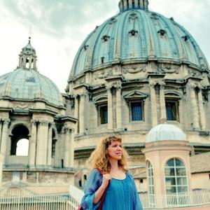 На крыше собора Святого Петра в Риме / Тревел-фотография