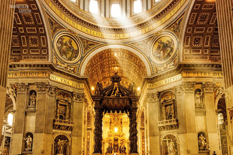 Интерьерная фотосъемка собора Св. Петра