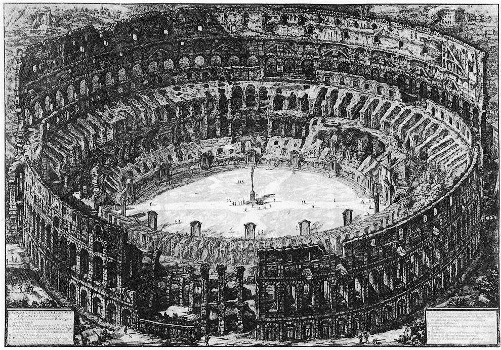Старое изображение Колизея