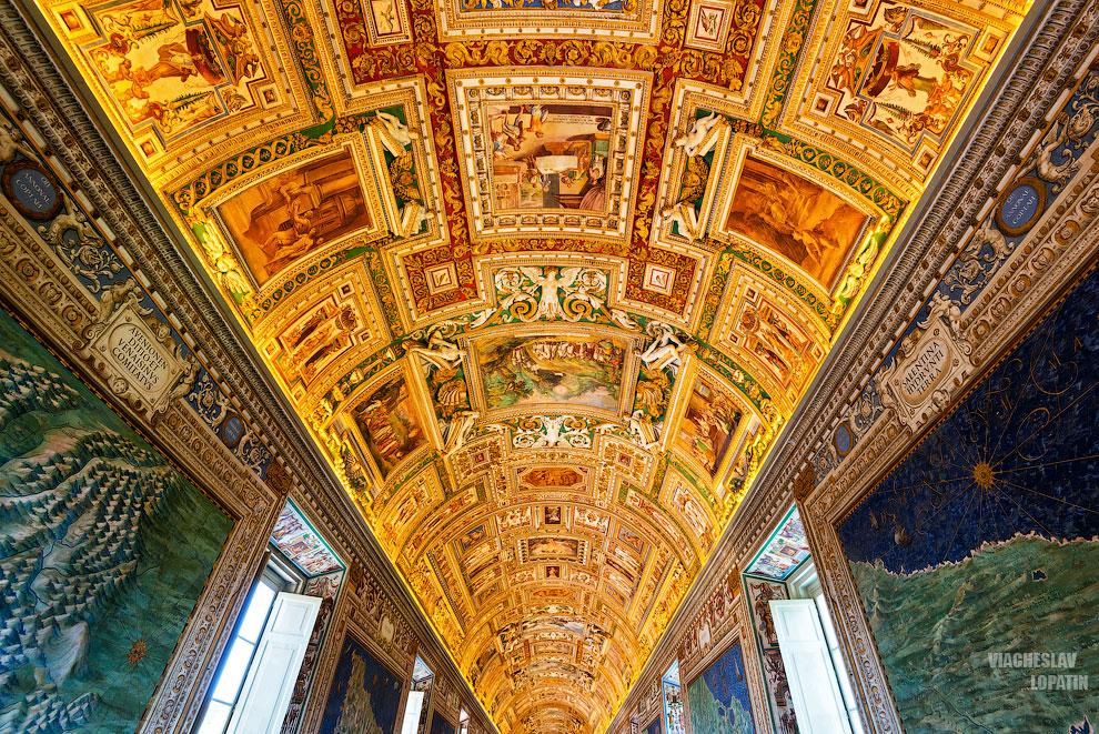 Географическая галерея в Музее Ватикана