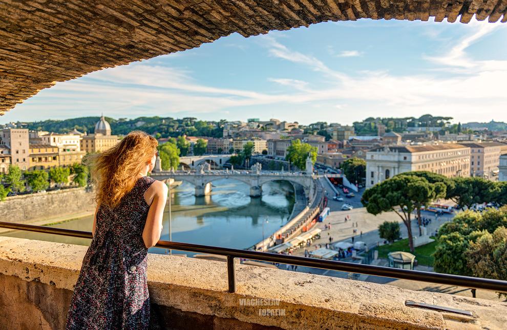Замок Святого Ангела: вид на Рим