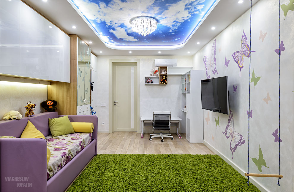 Фотография интерьера квартиры после обработки