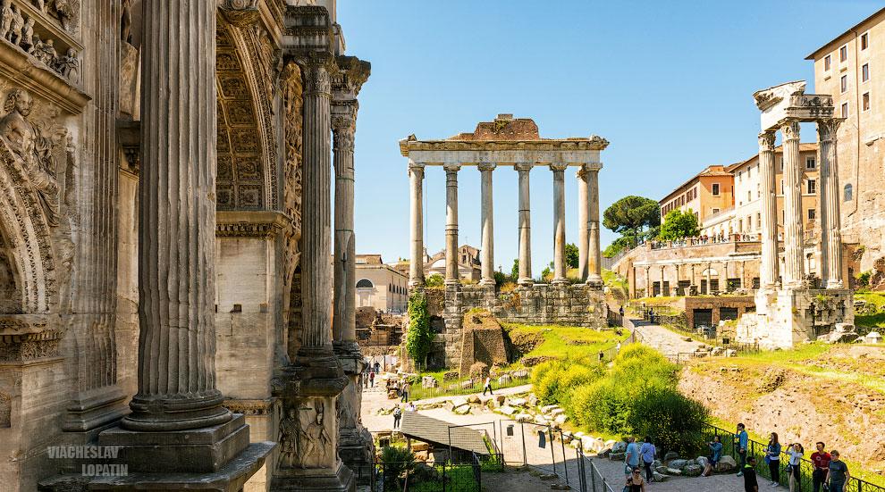 Римский форум: храм Сатурна