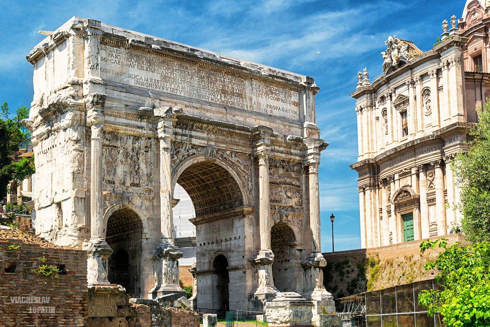 Римский форум: арка Септимия Севера