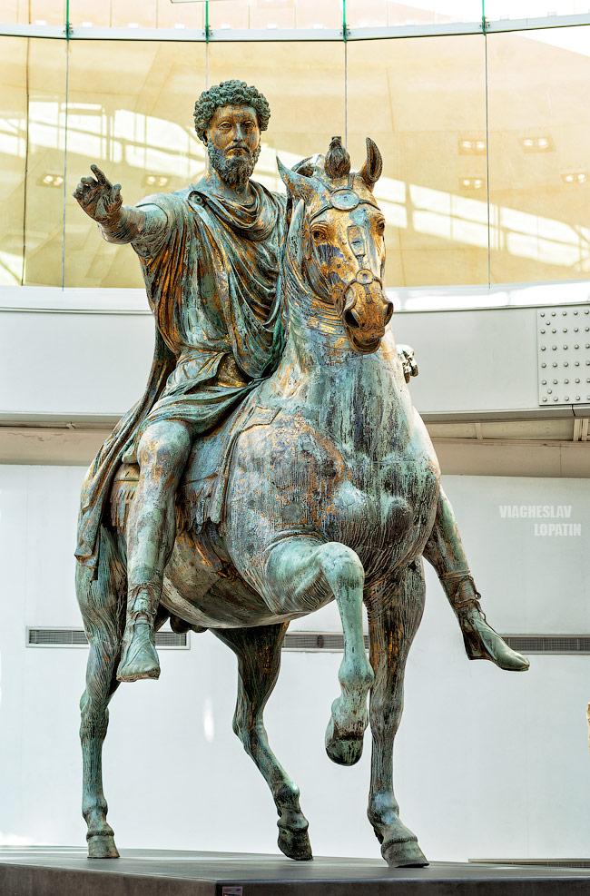 Капитолийские музеи: статуя Марка Аврелия