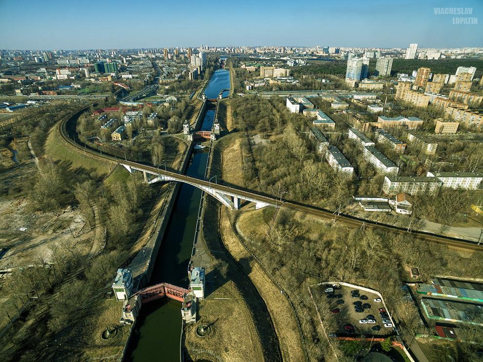 Канал им. Москвы с квадрокоптера