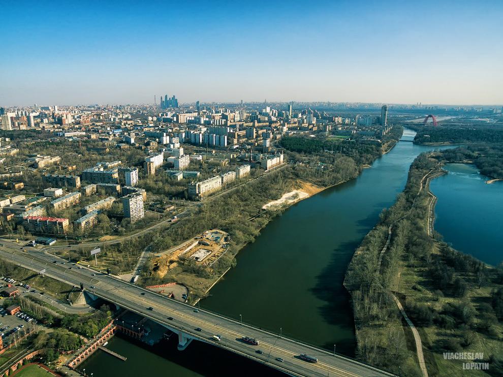 Москва с квадрокоптера