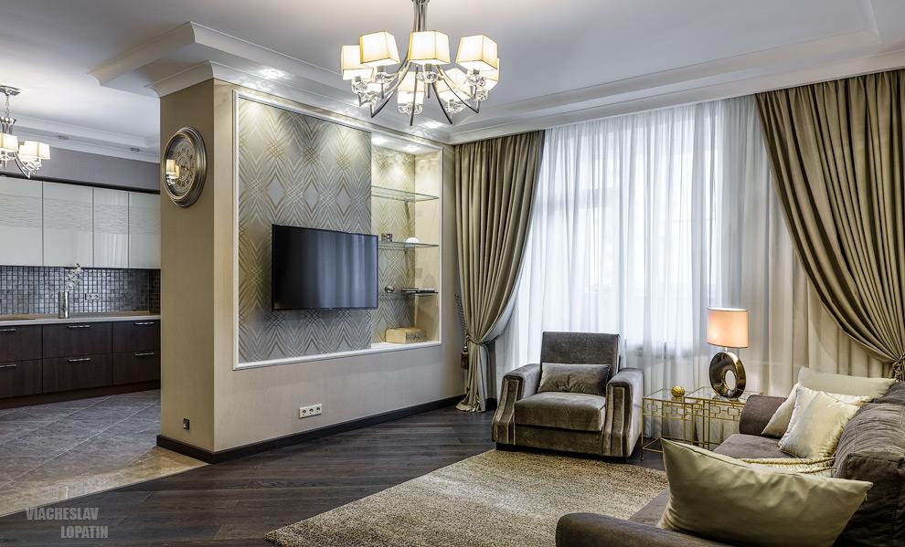 Интерьер квартиры, гостиная