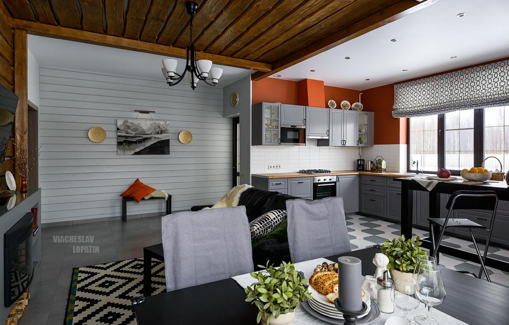 Интерьер дома: гостиная