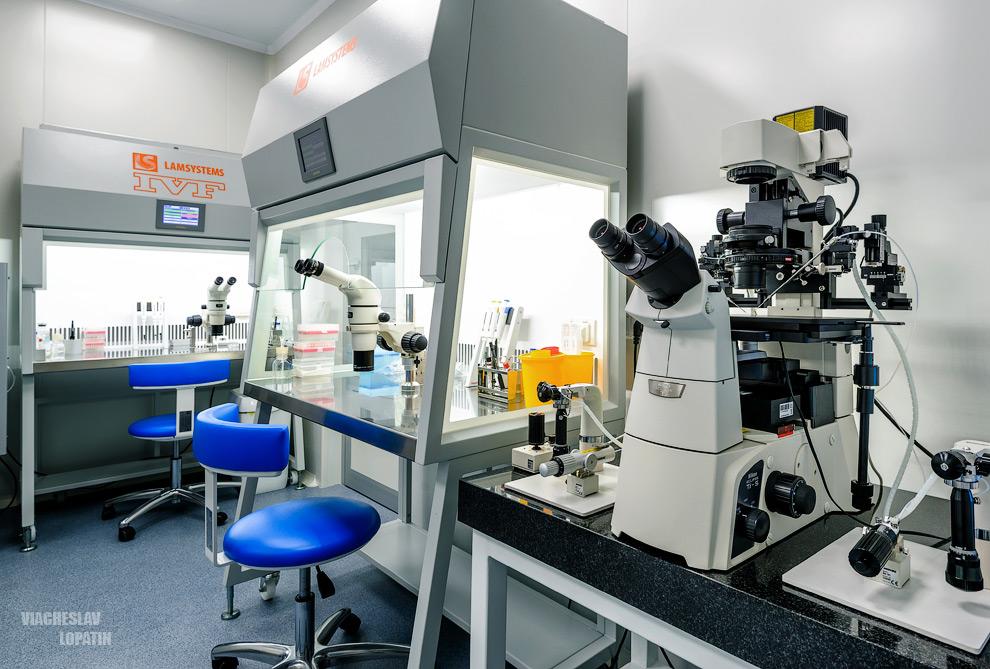 Интерьер клиники, лаборатория