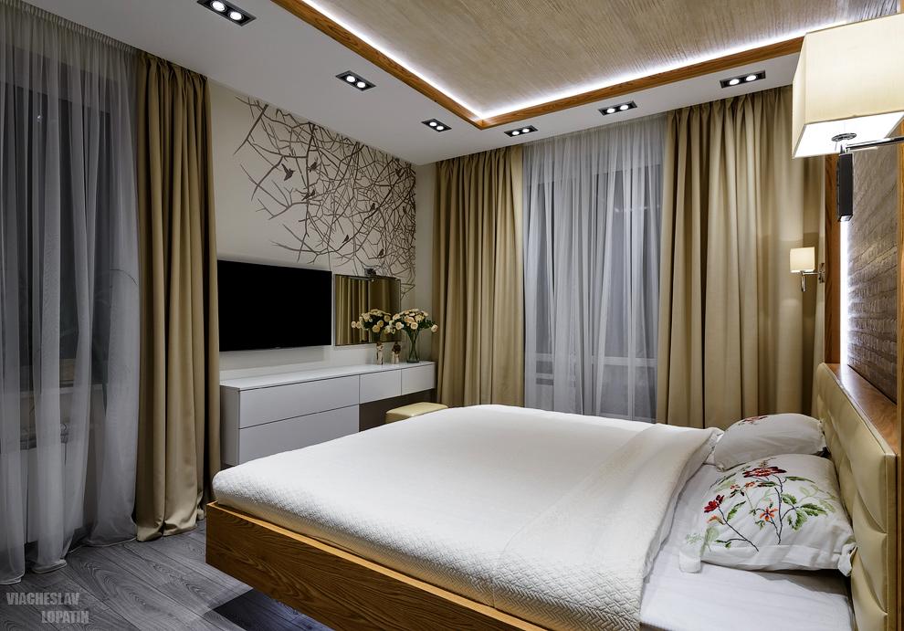 Интерьер квартиры: спальня