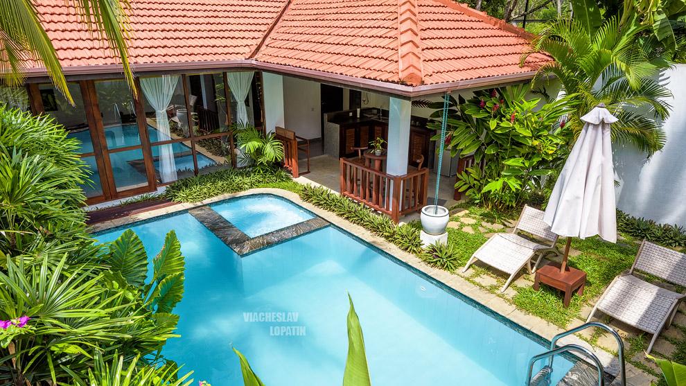Фотосъемка отеля: вилла с бассейном